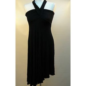Black multi wear maxi dress with halter